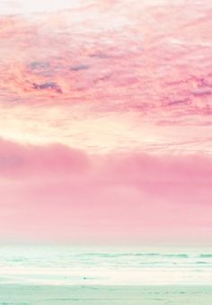 Pink sky, sea -  beautiful muted colours.