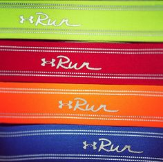 Why would you want one of our UA Run Headbands? Well for one they're made of soft elastic fabric with grippy silicone strips for stay-put performance as well as breathable moisture-wicking technology. UA Run Headbands come in awesome colors. Which is your favorite? #IWILL #UnderArmour
