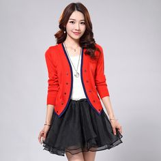 2015 Autumn Newly Solid  ⃝ Shawl Jacket Fashion Double-breasted ► Short Sweater Cardigan for Women 6 colors2015 Autumn Newly Solid Shawl Jacket Fashion Double-breasted Short Sweater Cardigan for Women 6 colors http://wappgame.com