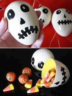 Easter Egg Skulls! Perfect for #Halloween!