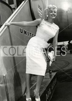 Marilyn on her way to Bement, Illinois, 1955.