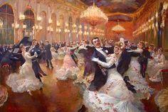 High society members, dancing the waltz. ~ {cwl} ~ (Image: ny19thcenturysociety - tumblr)