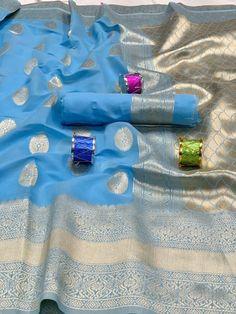 Fabric : *COTTON SILK* Blouse : Running *All Saree Available with Jhalar* Saree length :- mtr Blouse length :- mtr Quality assured Message us for any query Saree Dress, Saree Blouse, Sari, Indian Designer Sarees, Indian Sarees, Soft Silk Sarees, Elegant Saree, Work Sarees, Latest Sarees