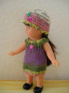 AU PAYS DES CHERIES: Petit ensemble tricot crochet pour mini corolline 20cm + tuto