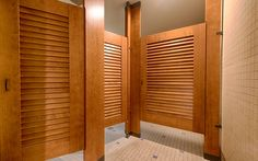 Ironwood Manufacturing Toilet Partitions And Louvered Bathroom Doors With  Powder Coated Hardware. Clean, Traditional