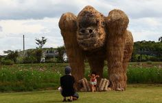 Towering Sculptures of Monsters Made of Straw - My Modern Metropolis