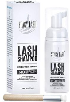Eyelash Extension Shampoo Stacy Lash + Brush / / Eyelid Foaming Cleanser/Wash for Extensions and Natural Lashes/Paraben & Sulfate Free Safe Makeup & Mascara Remover/Professional & Self Use - Care - Skin care , beauty ideas and skin care tips Eye Make-up Remover, Make Up Remover, Shampoo Brush, Natural Lashes, Face Cleanser, Eye Make Up, Face Wash, Eyelash Extensions, Makeup Eyes