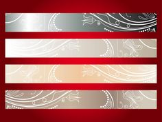Versatile elegant vector collection of banners. Gradient color rectangles in soft shades, floral patterns on all the images. Swirling stems, lines made out of dots, small curved leaves and flower blossoms. Free vector illustration for all banner design, online advertising and product label designs. Vector Banners Pack by Vectorportal.com 0