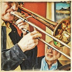 Band Director, Trombone, Violin, Music Instruments, Painting, Pictures, Musical Instruments, Painting Art, Paintings