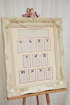 Kathryn and Trevor had a gorgeous table plan at their wedding which guided their guests to their seats and encorporated a bird theme.Click here to read the full real wedding story.