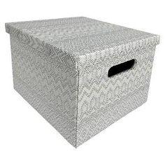Decorative Bin Grey Blue Room Essentials™ : Target