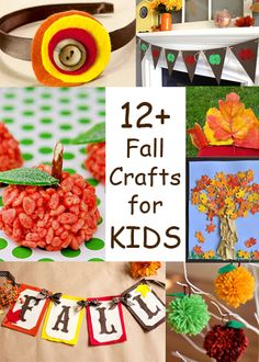 12+ Fall Crafts for Kids from busymomshelper.com #crafts #kids #fall