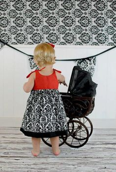 Sewing Pattern PDF - Baby Jumper Dress and Top Pattern with Big Sash Bow on Etsy, $7.95