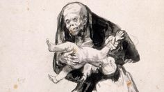 """ Mujer mala "" by Francisco de Goya (1819-23)"