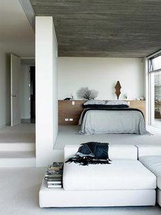 Open strakke slaapkamer | Open modern bedroom