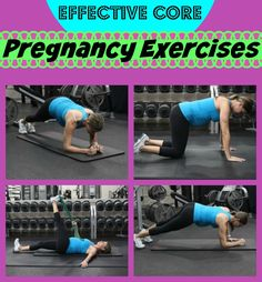 This is a safe pregnancy workout for the core.  If you don't want to end up with a pooch, try this.  Try 3 sets.  More pregnancy workouts that are safe for every trimester here.