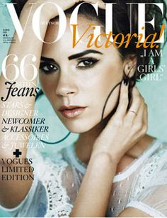 Victoria Beckham, cover of Vogue.
