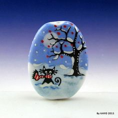 WAITING-ON-A-FRIEND-byKAYO-a-Handmade-LONELY-CAT-Lampwork-Glass-Focal-Bead-SRA