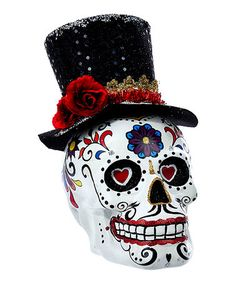 Loving this Day of the Dead Mr. Skull Centerpiece on #zulily! #zulilyfinds