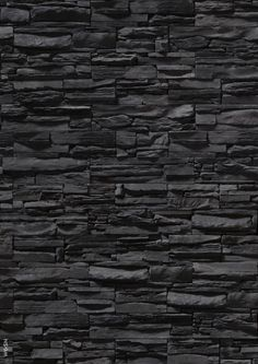 Pin example of a stone feature wall. The stone has been custom made into thin rectangular tiles with each one having their own texture. This works well in the design as the textures contrast making it look nice to look at Photoshop, Ceiling Texture Types, Brick Texture, Stone Texture Wall, Tiles Texture, Texture Design, Stone Wallpaper, Black Brick Wallpaper, Granite Wallpaper