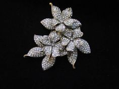 Two Tiered Flower Brooch with white by LaytonandEverett on Etsy