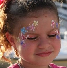 doll face painting So cute! Perfect for little girls and big girls! Face Painting Flowers, Girl Face Painting, Doll Face Paint, Doll Painting, Painting For Kids, Paint Flowers, Face Paintings, Face Painting Tutorials, Face Painting Designs