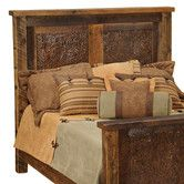 Found it at Wayfair - Barnwood Inset Copper Headboard