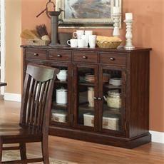 ECI Furniture 1475-05-SR Gettysburg Server in Dark Distressed