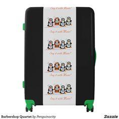Shop Barbershop Quartet Luggage created by Penguinocity. Painting Digital, Barber Shop Quartet, Luggage Suitcase, Barbershop, Sayings, Music, Barber Shop, Musica, Musik