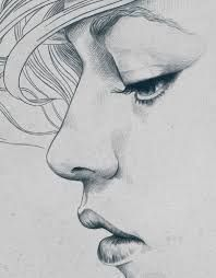 Image result for smiling woman profile drawing