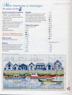Gallery.ru / Фото #6 - франц 222 - Mosca canal houses cross stitch