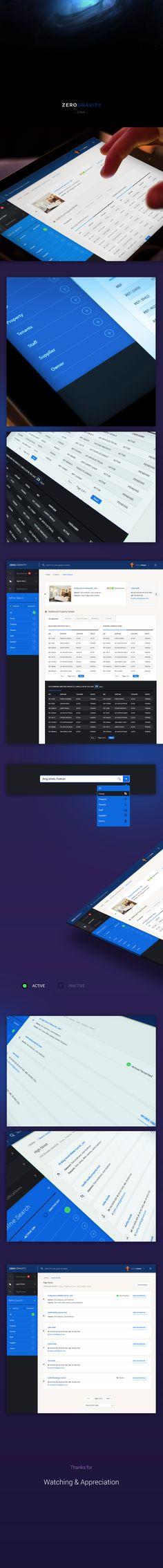 CRM Dashboard - ZERO GRAVITY on Behance