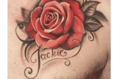 Rose Tattoos For Men On Chest Images & Pictures - Becuo