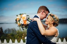 Brittany and Nicholas's Hood Canal Vista Pavilion's wedding in Port Gamble Washington was full of gorgeous DIY details.  Photographed by local Washington Wedding Photographer, Rebecca Anne Photography.