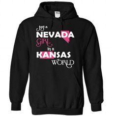 (Nevada001) Just A Nevada Girl In A Kansas World #clothing #TShirts