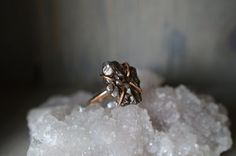 Rose Gold Meteorite Ring. Outer Space Meteorite by happylittlegems