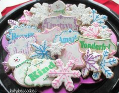 Snowflakes and snowmen   Cookie Connection