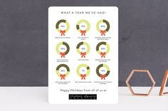 Numbered Wreaths Business Holiday Cards by Becca T...   Minted