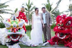 #weddingdesign #vietnambeachweddings #hoianeventsweddings #beachwedding #destinationwedding #liondance #weddingentertainment