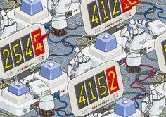 Jeremy Huet hace dibujos de redes sociales y videojuegos usando la tecnica del pixelart.