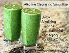 Homemade Alkaline Cleansing Green Smoothie Recipe