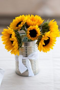 Sunflowers. I've already started spraying my tin cans silver...