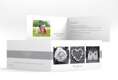 """Hochzeitseinladung """"Marseille"""" mit drei austauschbaren Fotos zum personalisieren"""