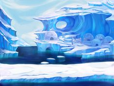 Landscape Concept, Fantasy Landscape, Landscape Art, Fantasy World, Fantasy Art, Snow Art, Animation Background, Environment Concept Art, Biomes