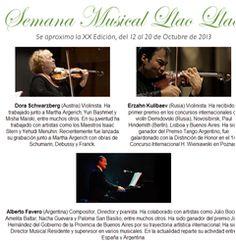 Semana Musical Llao Llao XX Edición del 12 al 20 de octubre de 2013