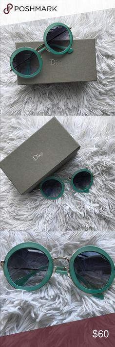 Dior sunglasses round Green- meant- aqua color round Dior sunglasses Accessories Sunglasses