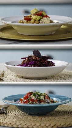 3 Ideias de Salada - picture for you Healthy Crockpot Recipes, Real Food Recipes, Cooking Recipes, Good Food, Yummy Food, Meal Prep For The Week, Light Recipes, Food Videos, Food And Drink