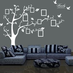 Family Tree Bird Wall Sticker Photo Picture Frame Removable DIY Room Decal White | Home & Garden, Home Décor, Decals, Stickers & Vinyl Art | eBay!