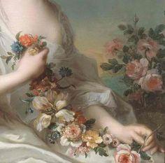 Jean Marc Nattier (1685-1766)   Portrait of a Lady 1738 (detail)