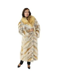 Red Fox Section Coat - pre-owned resale Neiman Marcus | long fur coat